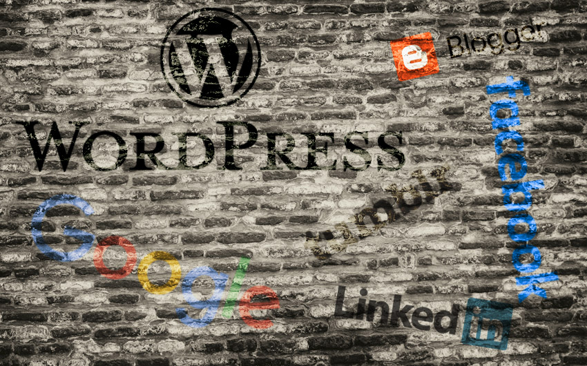 Platform logos collage wetenschapscommunicatie bloggen
