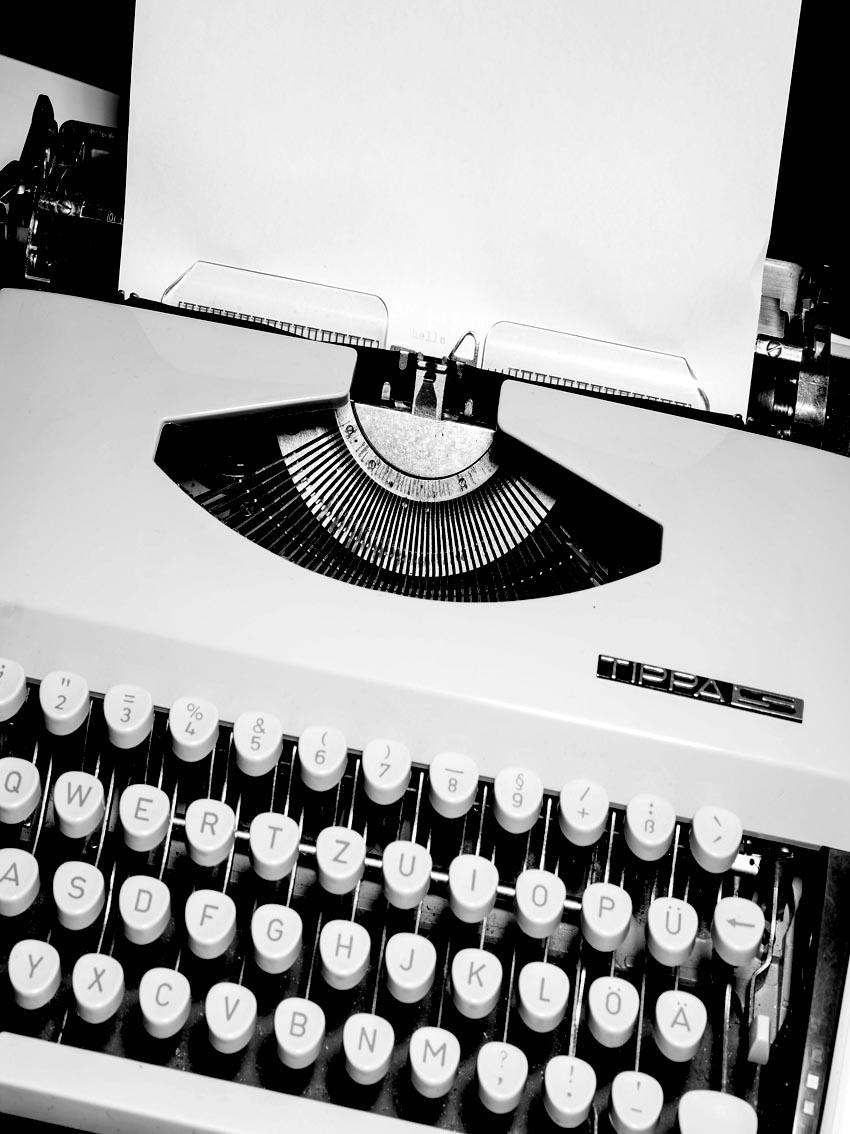 Wetenschapsblog maken typemachine